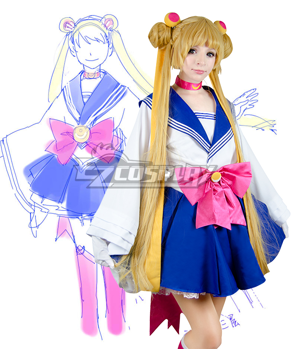 Sailor Moon Tsukino Usagi Princess Serenity JK School Uniforms kimono Anime Style Cosplay Costume  None