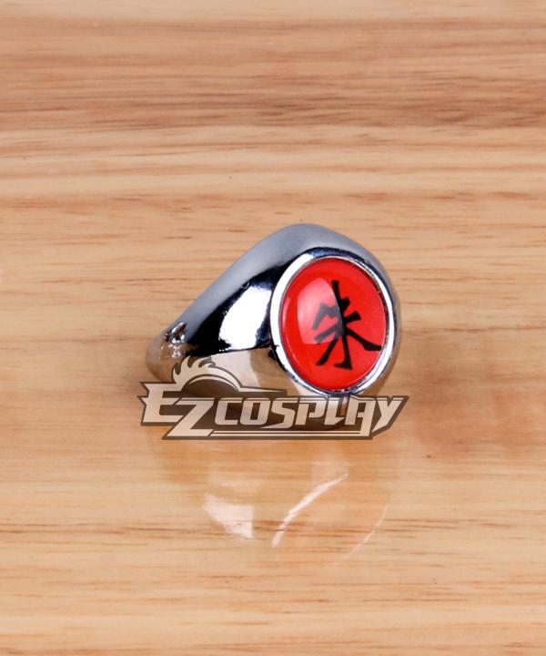 Image of Naruto Cosplay Accessories Akatsuki Itachi Uchiha Shu (Scarlet) Ring