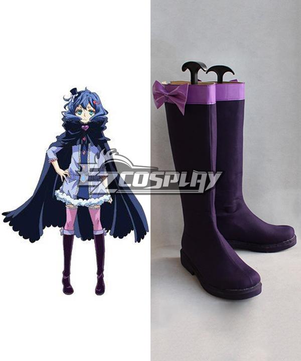 KARNEVAL Kiichi Karneval Purple Shoes Cosplay Boots COSS0233