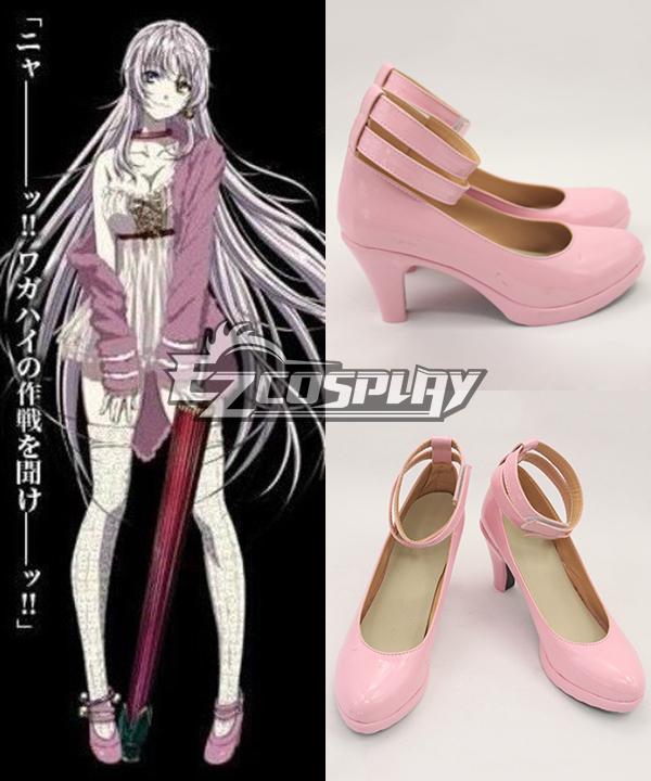 K Return Of Kings Neco Dress Pink Cosplay Shoes