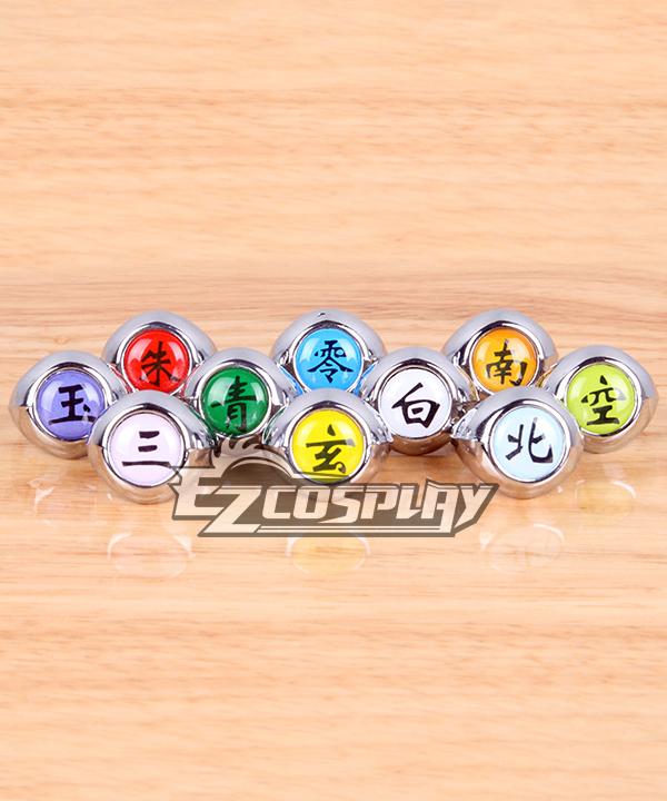 Naruto Cosplay Accessories Atasuki Group Ring Set