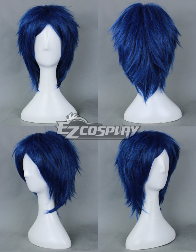 Free! Rei Ryugazaki  Dark Blue Cosplay Wig-012E