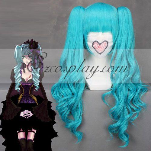 Vocaloid Hatsune Miku Full Bangs Blue Cosplay Wig