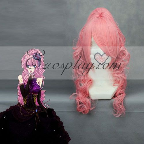 Anime Costumes ZBW0152 Vocaloid Luka Pink Cosplay Wave Wig-048A