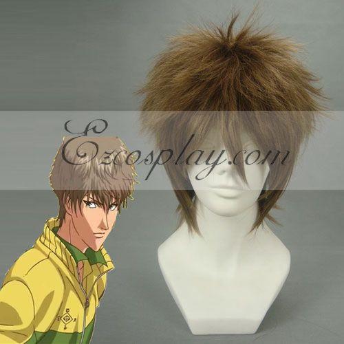 The Prince of Tennis Oshitari Kenya Brown Cosplay Wig-053D