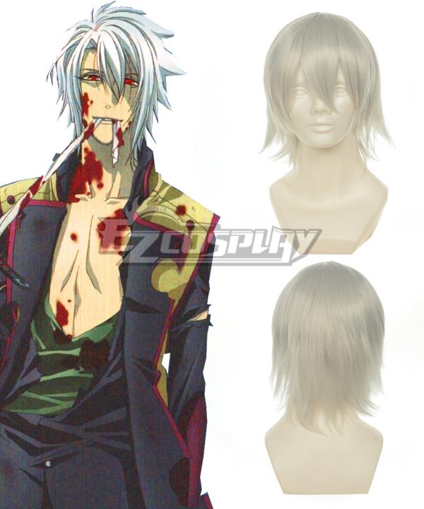 Hakuouki http://www.rulercosplay.cn/?product-271.htmlToshizo Greyish White Cosplay Wig