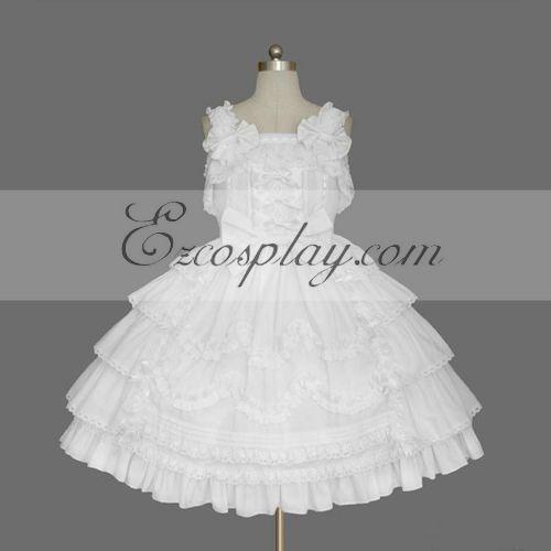 White Gothic Lolita Dress -LTFS0102
