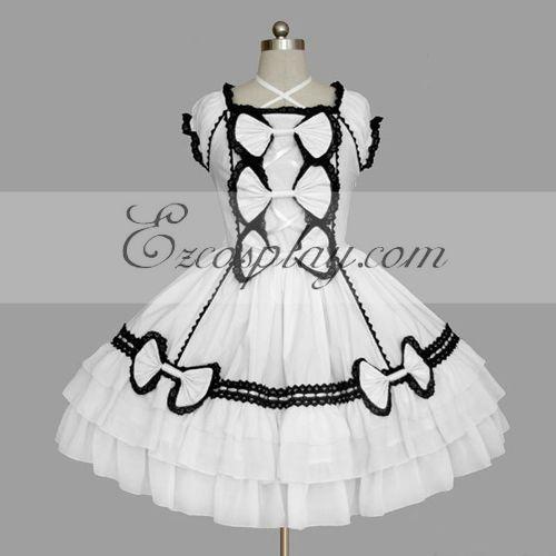 White Gothic Lolita Dress -LTFS0104