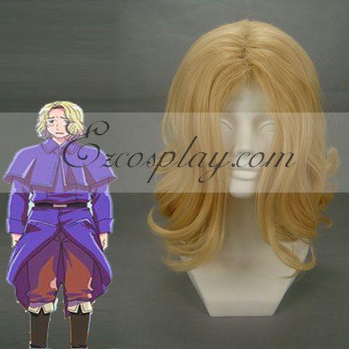 Hetalia Francis Bonnefeuille Golden Cosplay Wig-119A