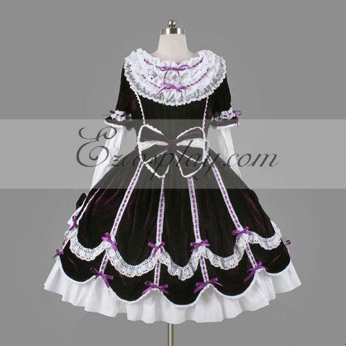 Purple Gothic Lolita Dress -LTFS0120