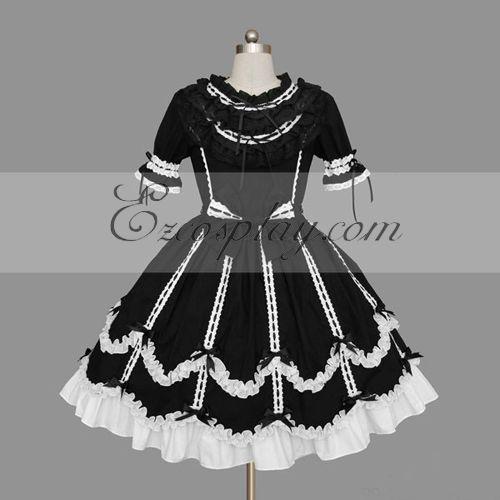 Black-White Gothic Lolita Dress -LTFS0121