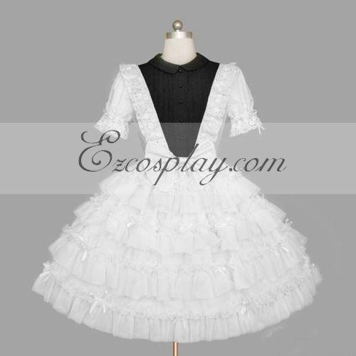 White Gothic Lolita Dress -LTFS0140