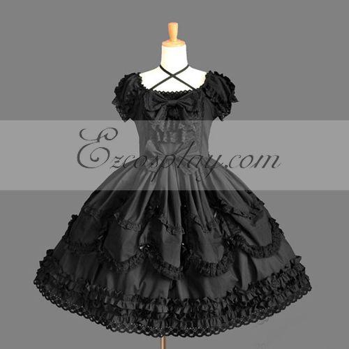 Black Gothic Lolita Dress -LTFS0144