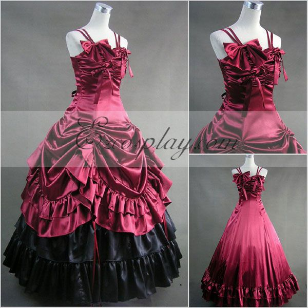 Red Sleeveless Gothic Lolita Dress-LTFS0014