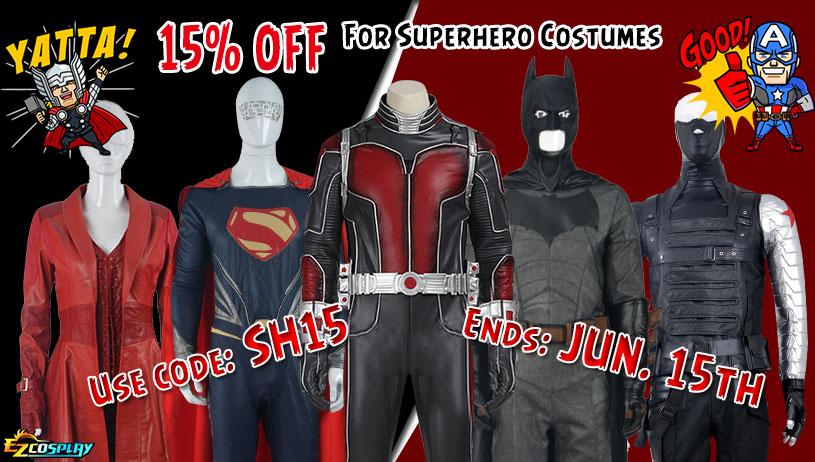 Superhero Cosplay Costume On Sale