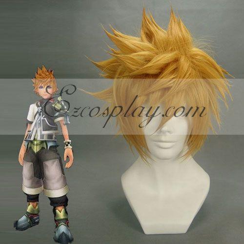 Kingdom Hearts Roxas Yellow Cosplay Wig-173A