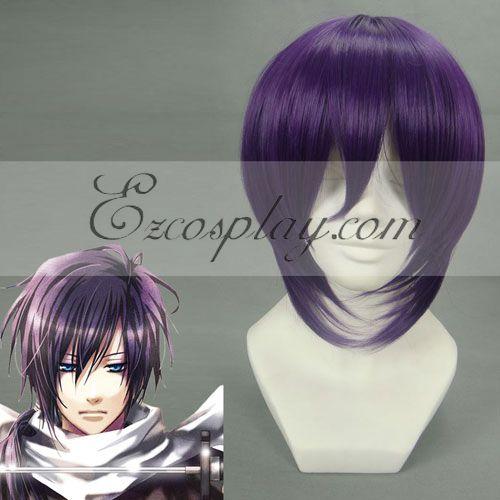 Hakuouki Saito Hajime Purple Cosplay Wig-183A