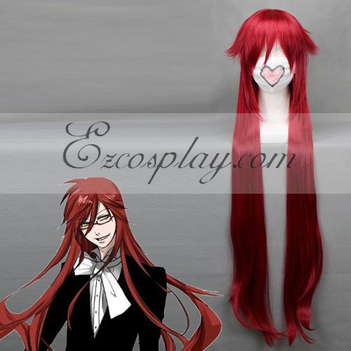 Black Butler Grell Sutcliff Red Cosplay Wig-194A