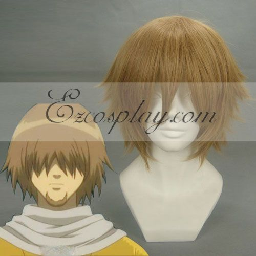 Gintama Iwami no Kami Brown Cosplay Wig-199D