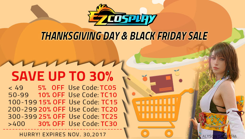2017 Thanksgiving Day Black Friday Sale