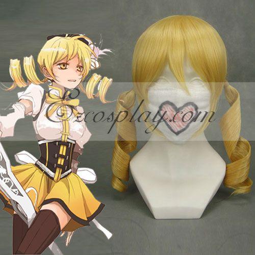 Puella Magi Madoka Magica Tomoe Mami Yellow Cosplay Wig-206A