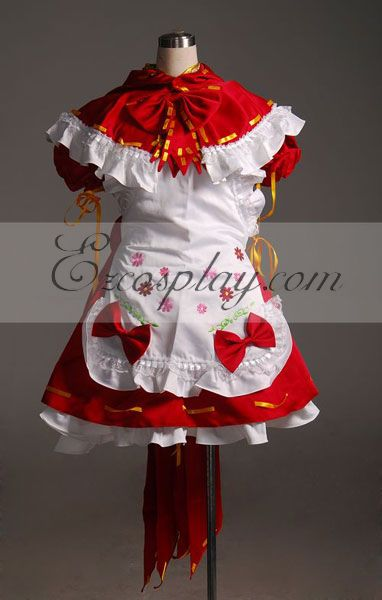 Vocaloid Miku Red Maid Cosplay Costume-Advanced Custom