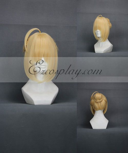 Fate/Zero Saber Yellow Cosplay Wig-235A