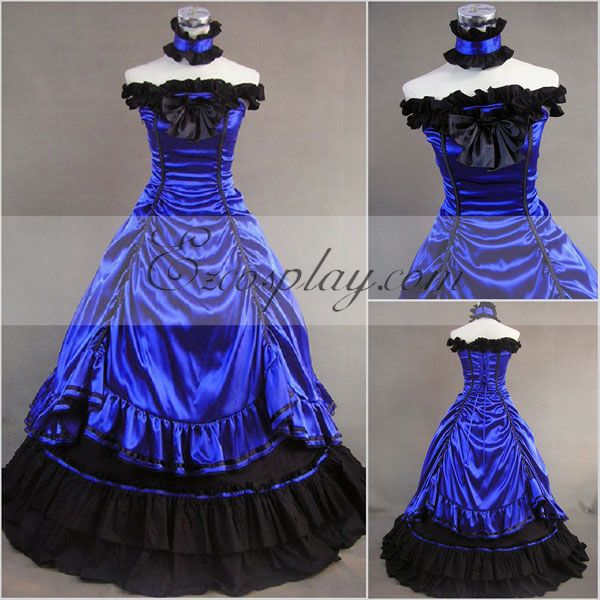 Mazarine Sleeveless Gothic Lolita Dress-LTFS0023