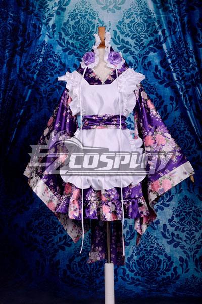 Printing Gorgeous Kimono Maid Clothing/Maid Cosplay Costume