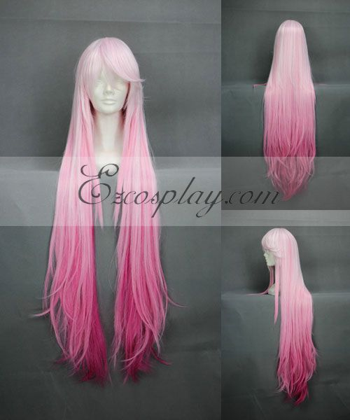 Guilty Crown Yuzuriha Inori Pink Cosplay Long Wig 268B