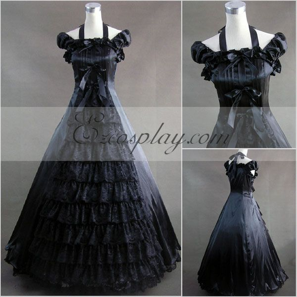 Black Sleeveless Gothic Lolita Dress-LTFS0027