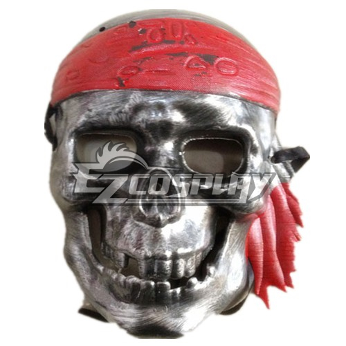 Pirates Of The Caribbean Cosplay Mask silvery