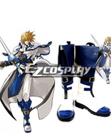 Guilty Gear Ky Kiske Halloween Blue White Cosplay Boots