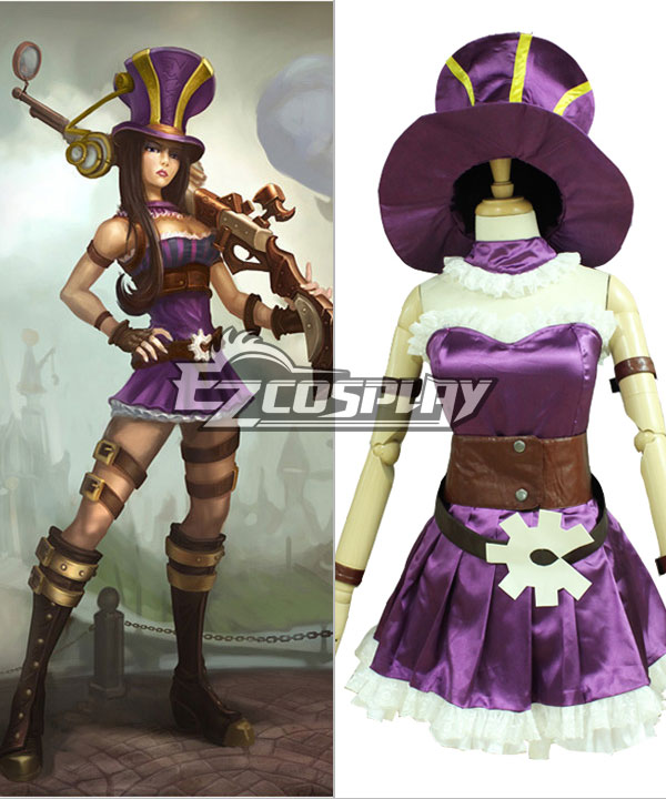 League of Legends Caitlyn Cosplay Costuem
