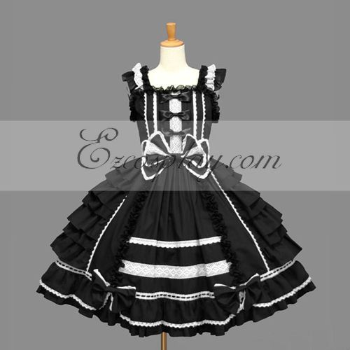 Black Gothic Lolita Dress -LTFS0069
