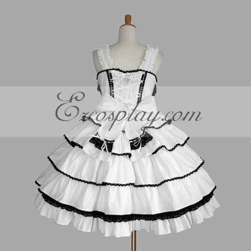 Image of White Gothic Lolita Dress LTFS0070