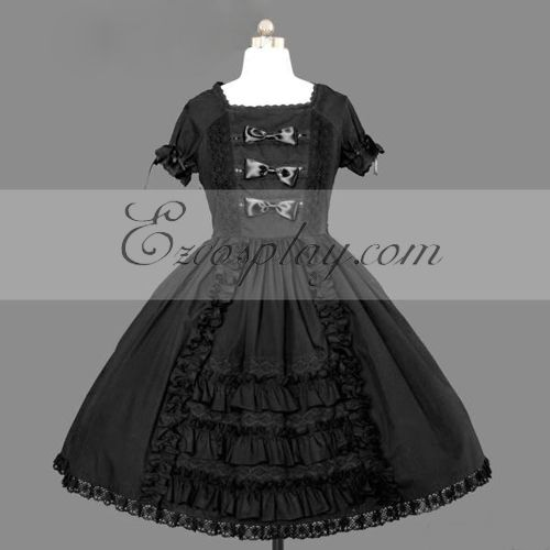 Black Gothic Lolita Dress -LTFS0071