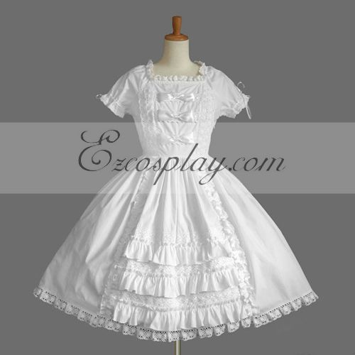 Image of White Gothic Lolita Dress LTFS0072