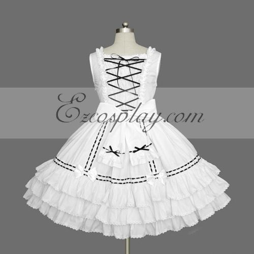 Image of White Gothic Lolita Dress LTFS0074