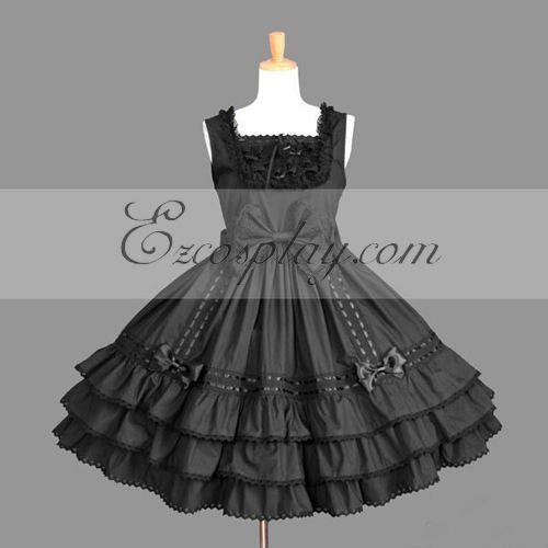 Black Gothic Lolita Dress -LTFS0076