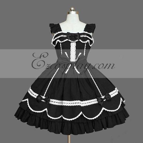 Black Gothic Lolita Dress -LTFS0079