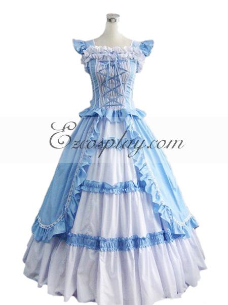 Blue Sleeveless Gothic Lolita Dress-LTFS0008