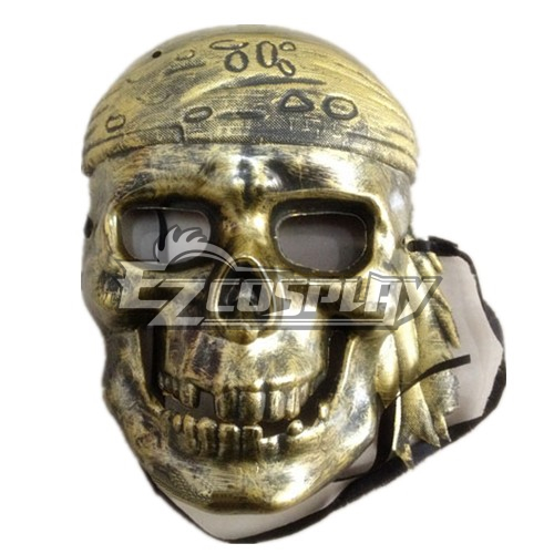 Pirates Of The Caribbean Cosplay Mask Bronze