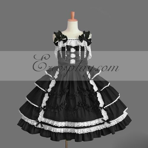 Black Gothic Lolita Dress -LTFS0097