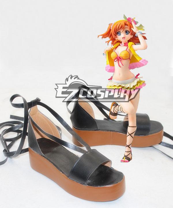 Love Live! Kousaka Honoka Black Cosplay Shoes