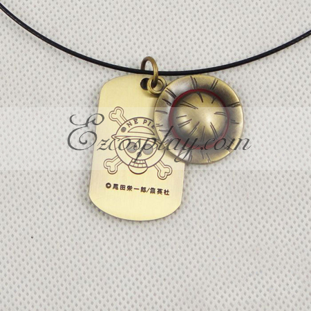 One piece Luffy straw hat necklace