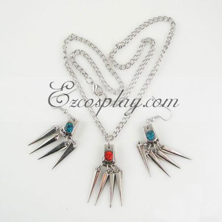 Hitman Reborn necklace earrings  suit