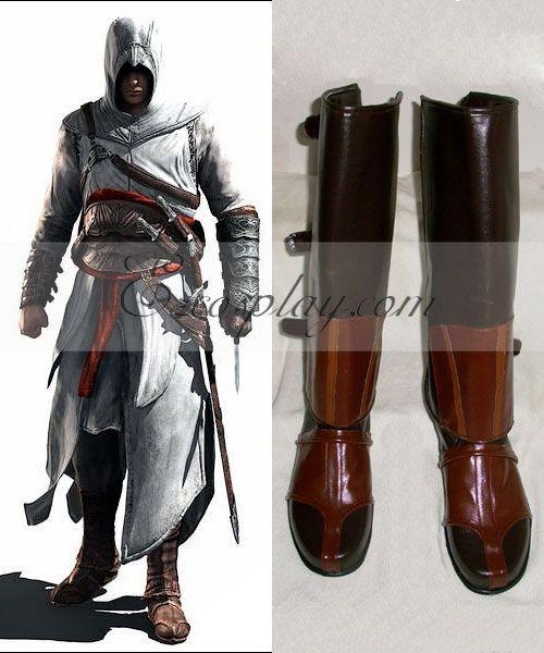 Assassin's Creed II Ezio Cosplay Boots-055 None