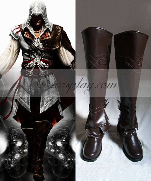 Assassin's Creed II Ezio Auditore Brown Cosplay Boots