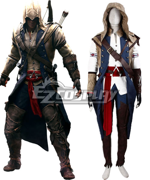 Assassin's Creed III Connor Render Cosplay Costume - Deluxe Version